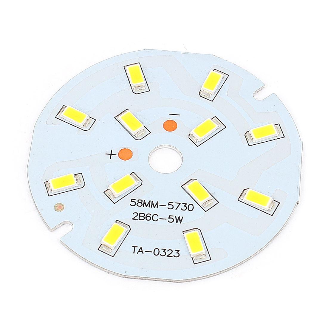 5W Warm White 12 SMD 5730 LED Light Downlight Aluminum Base Plate