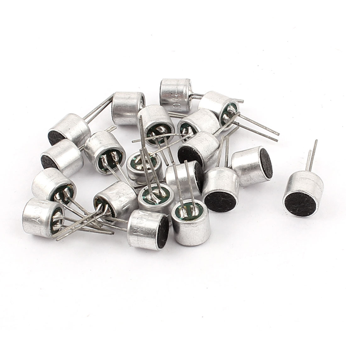 20 Pcs 6mm x 5mm Through Hole Mini Electret Microphone Condenser Pickup