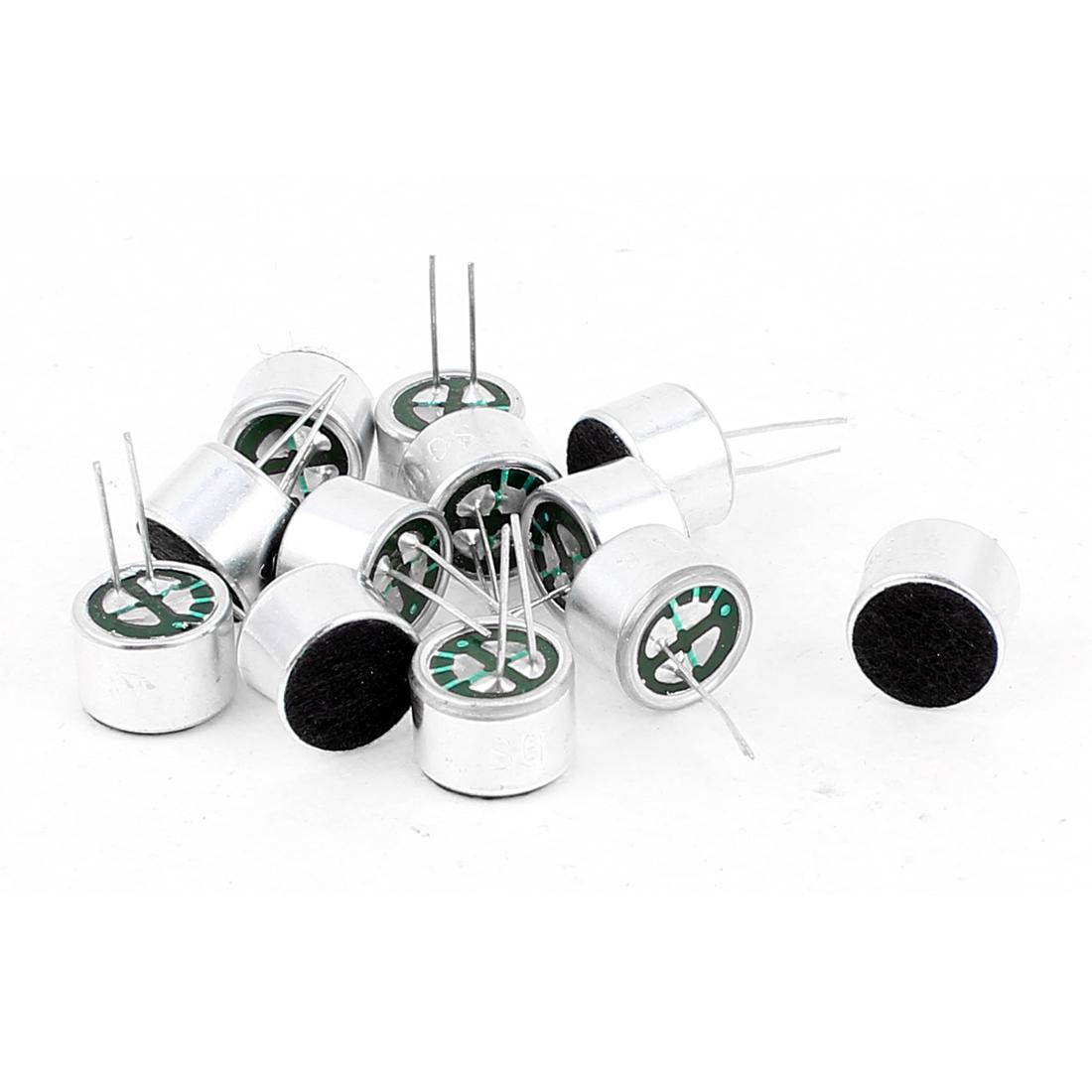 12 Pcs 10mm x 7mm Through Hole Mini Electret Microphone Condenser Pickup
