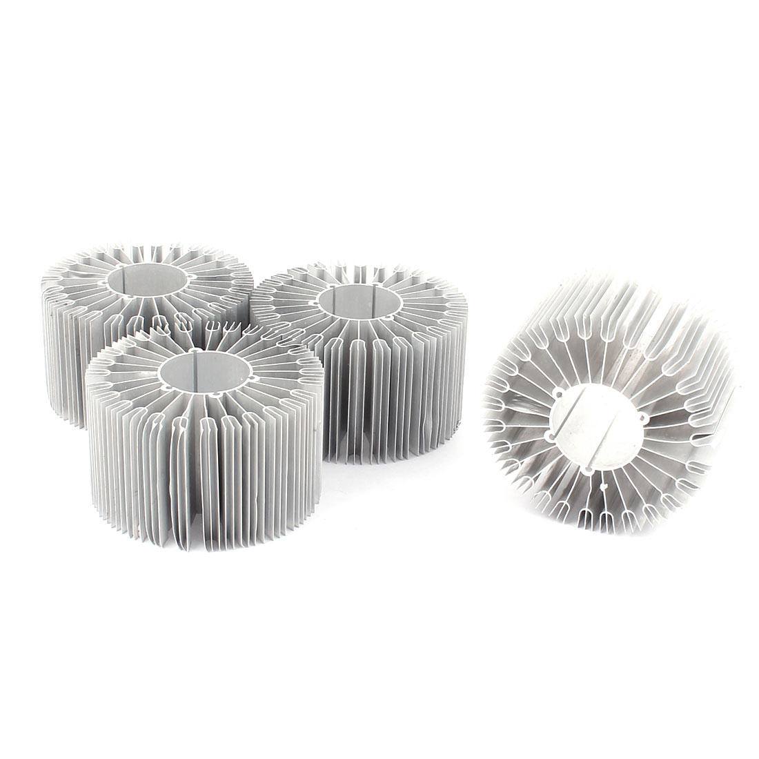 4Pcs Led Lamp Aluminum Heatsink Radiator Cooling Fin 86mmx32mmx50mm Silver Tone