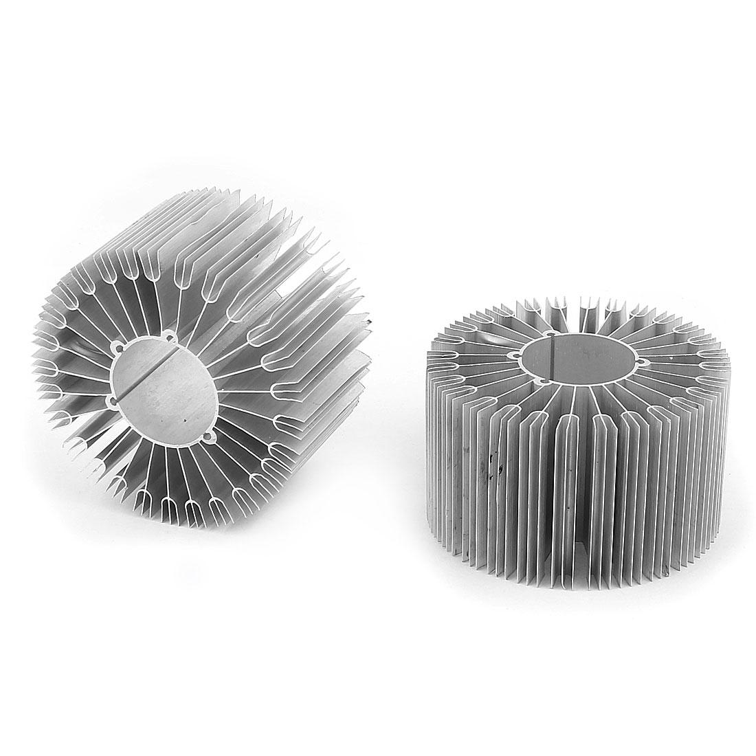 2 Pcs Led Lamp Aluminum Heatsink Radiator Cooling Fin 86mmx32mmx50mm Silver Tone