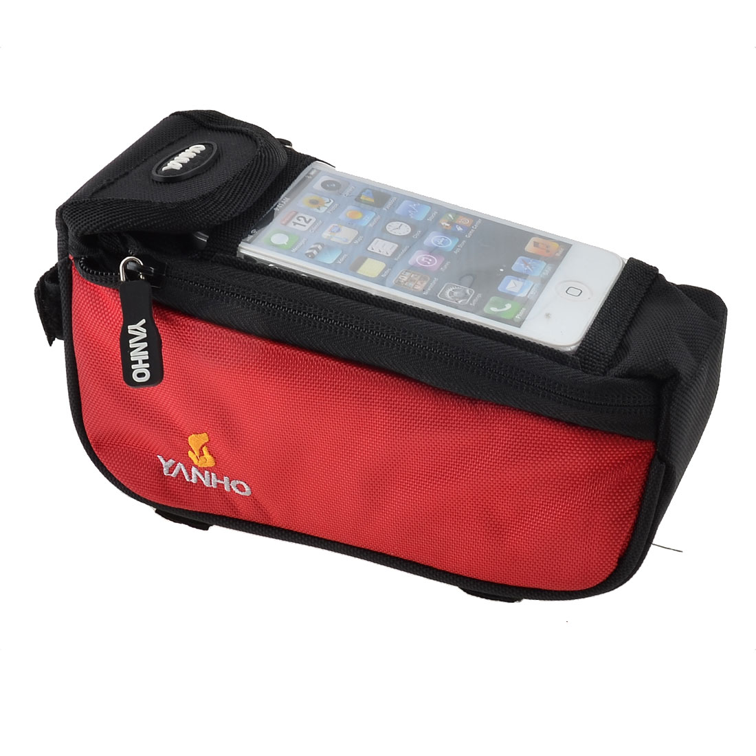 Bicycle Bike Front Tube Bag Mobile Phone Holder Pouch Case Red