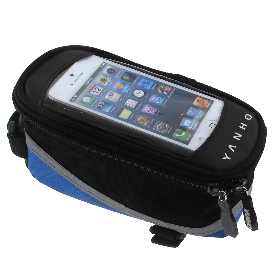 Mountain Bike Bicycle Outdoor Top Tube Bag Cell Phone Pouch Blue