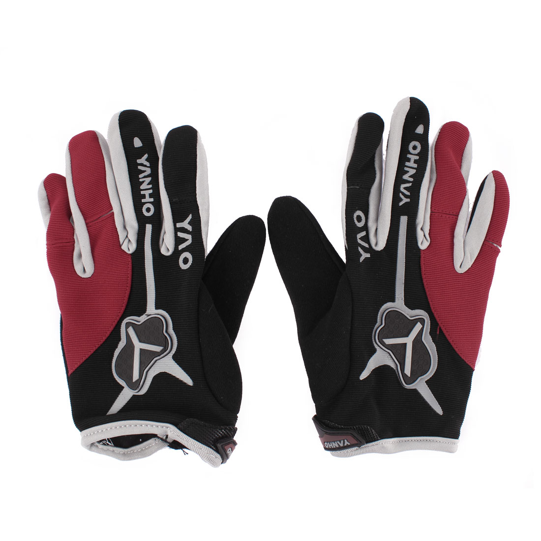 Men Bike Bicycle Cycling Full Ginger Gym Gloves Hand Protector Pair