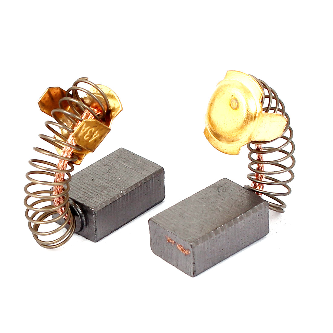 2 Pcs Replacement Motor Carbon Brushes 17mm x 11mm x 7mm for Electric Motors