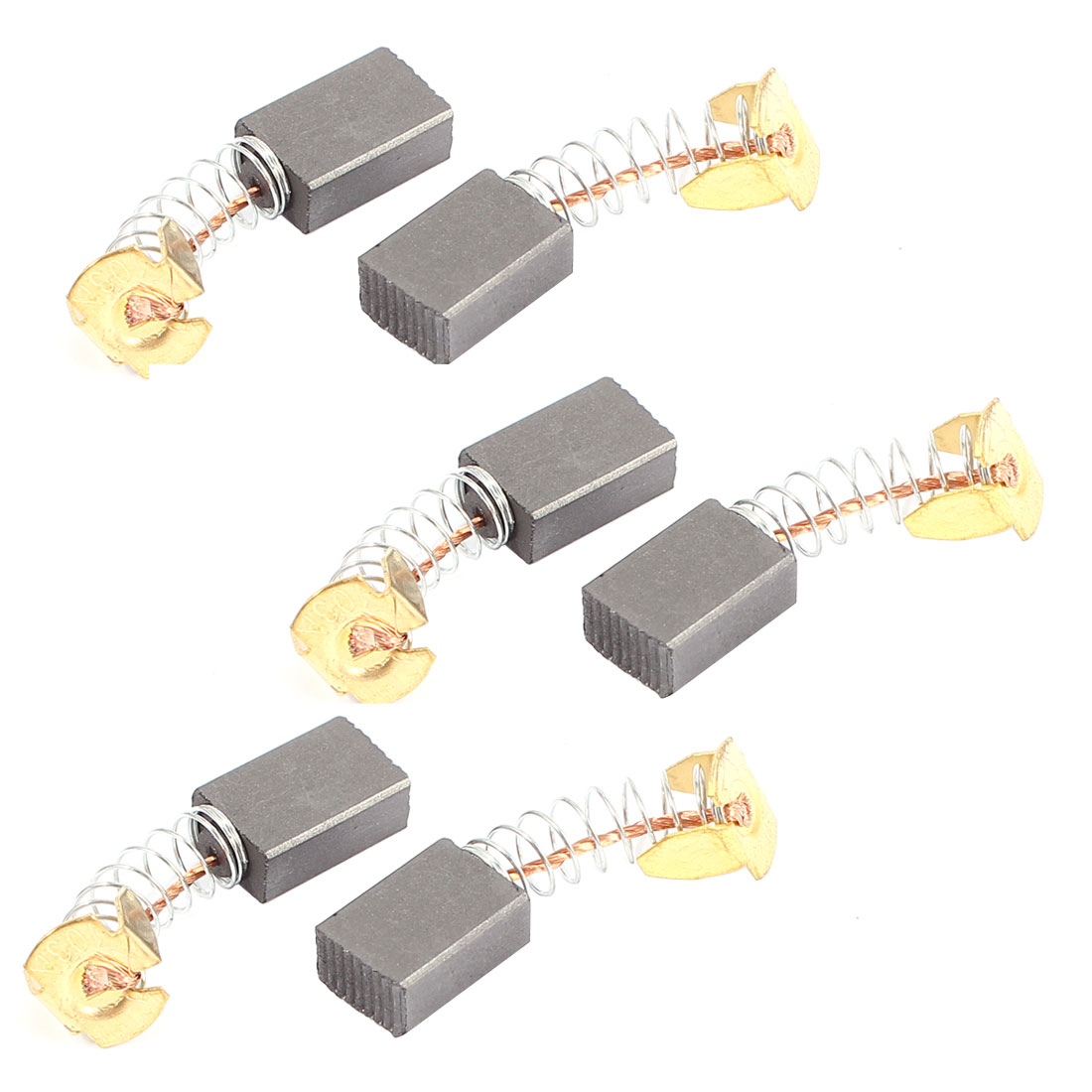 6Pcs Carbon Electric Motor Brushes 15mm x 10mm x 6mm For Drill Screwdriver