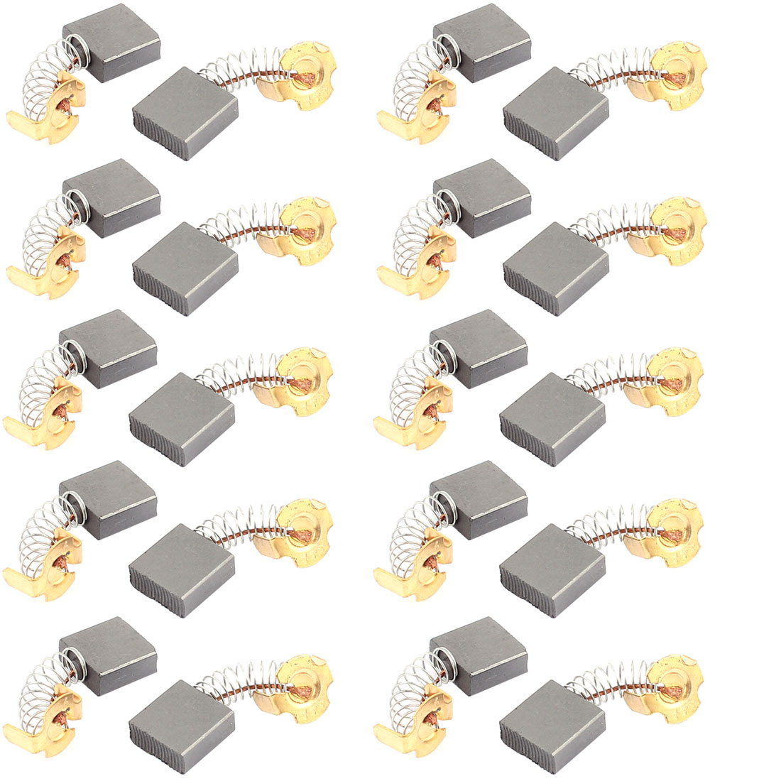 10 Pcs Replacement Electric Motor Carbon Brushes 17mm x 17mm x 7mm for Motors