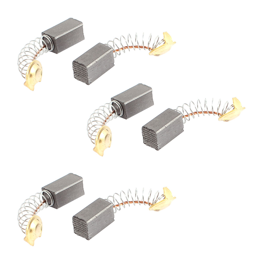 6 Pcs Replacement Electric Motor Carbon Brushes 12mm x 7mm x 6mm for Motors