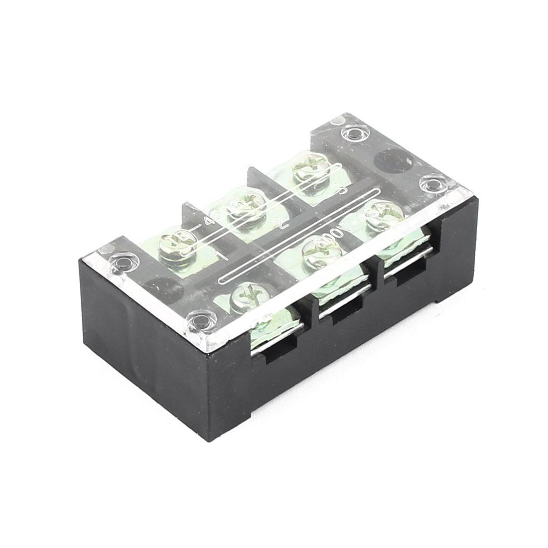 600V 45A Double Row 3 Position Screw Terminal Barrier Blocks TB4503