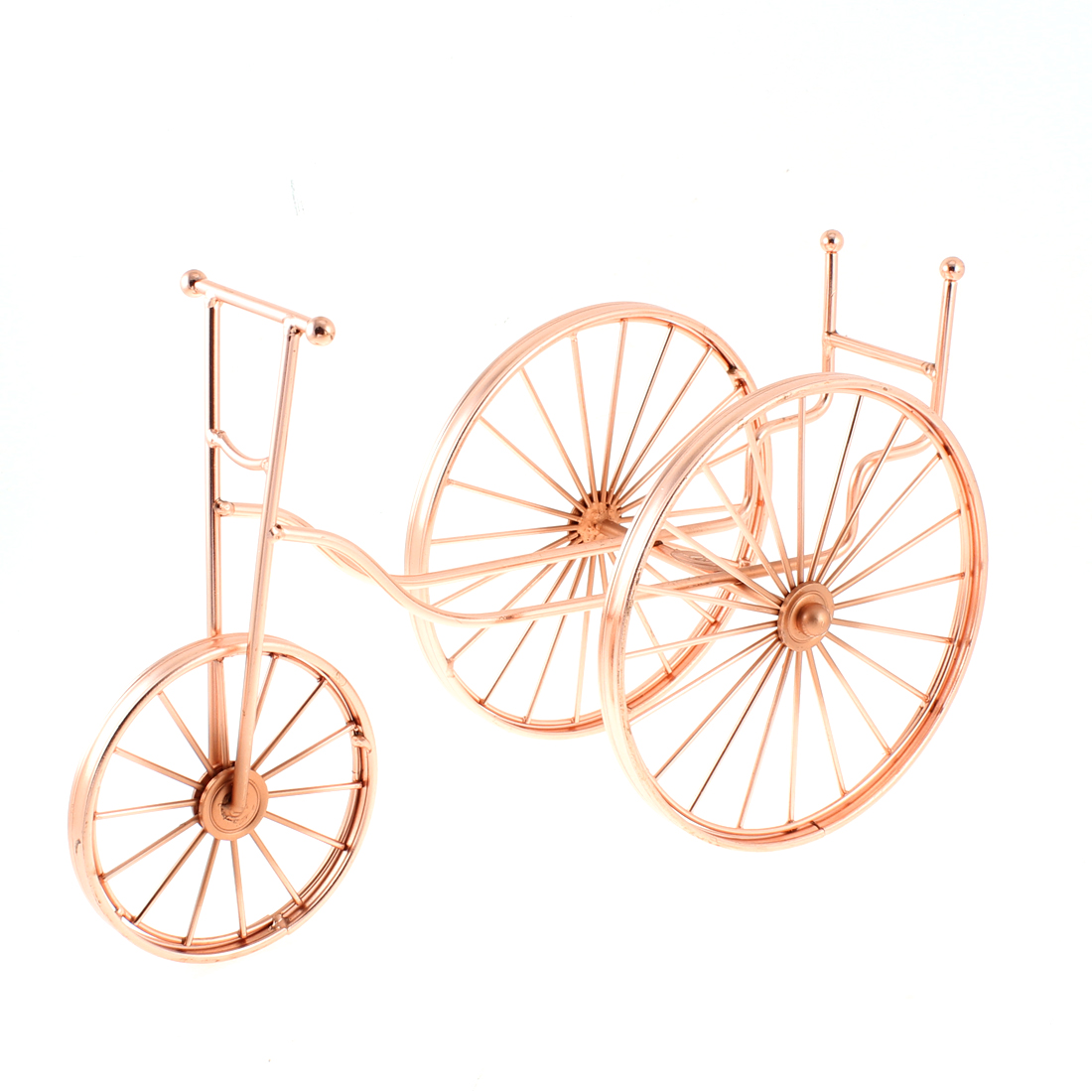 Countertop Tricycle Shape Wine Bottle Holder Rack Organizer Display Gold Tone