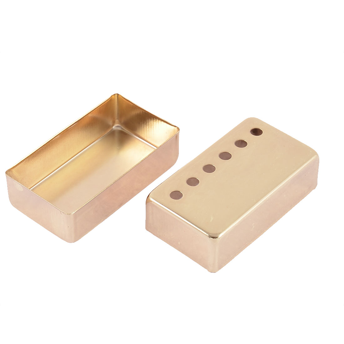 Electric Guitar Humbucker Pickup 7cm x 4cm x 2cm Metal Cover Gold Tone 2pcs