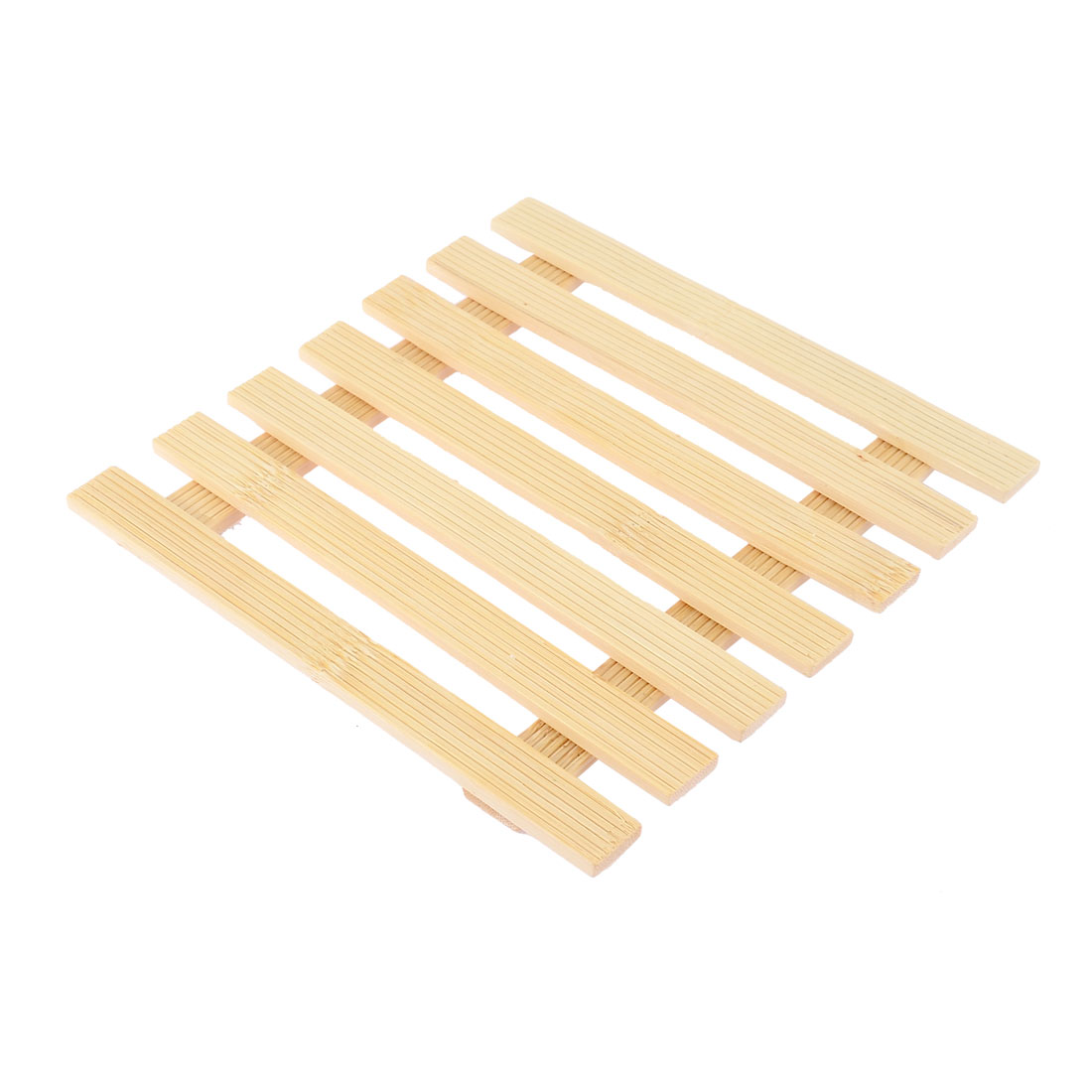 Kitchen Table Cup Dishes Bamboo Square Shape Insulation Mat 17 x 17cm