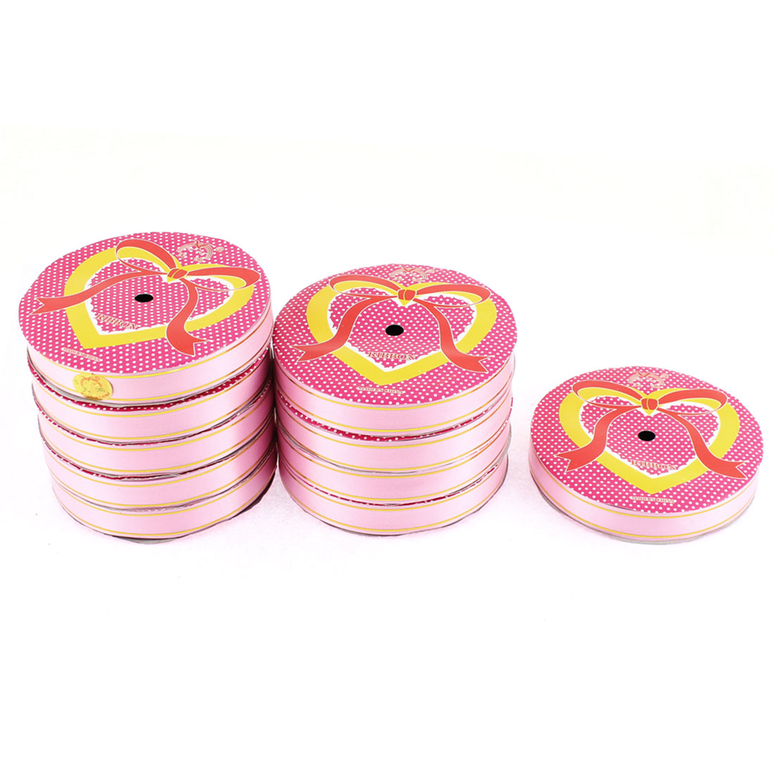 Wedding Festival Polyester Satin Ribbon Roll Tape Pink 20m 22 Yards 10pcs