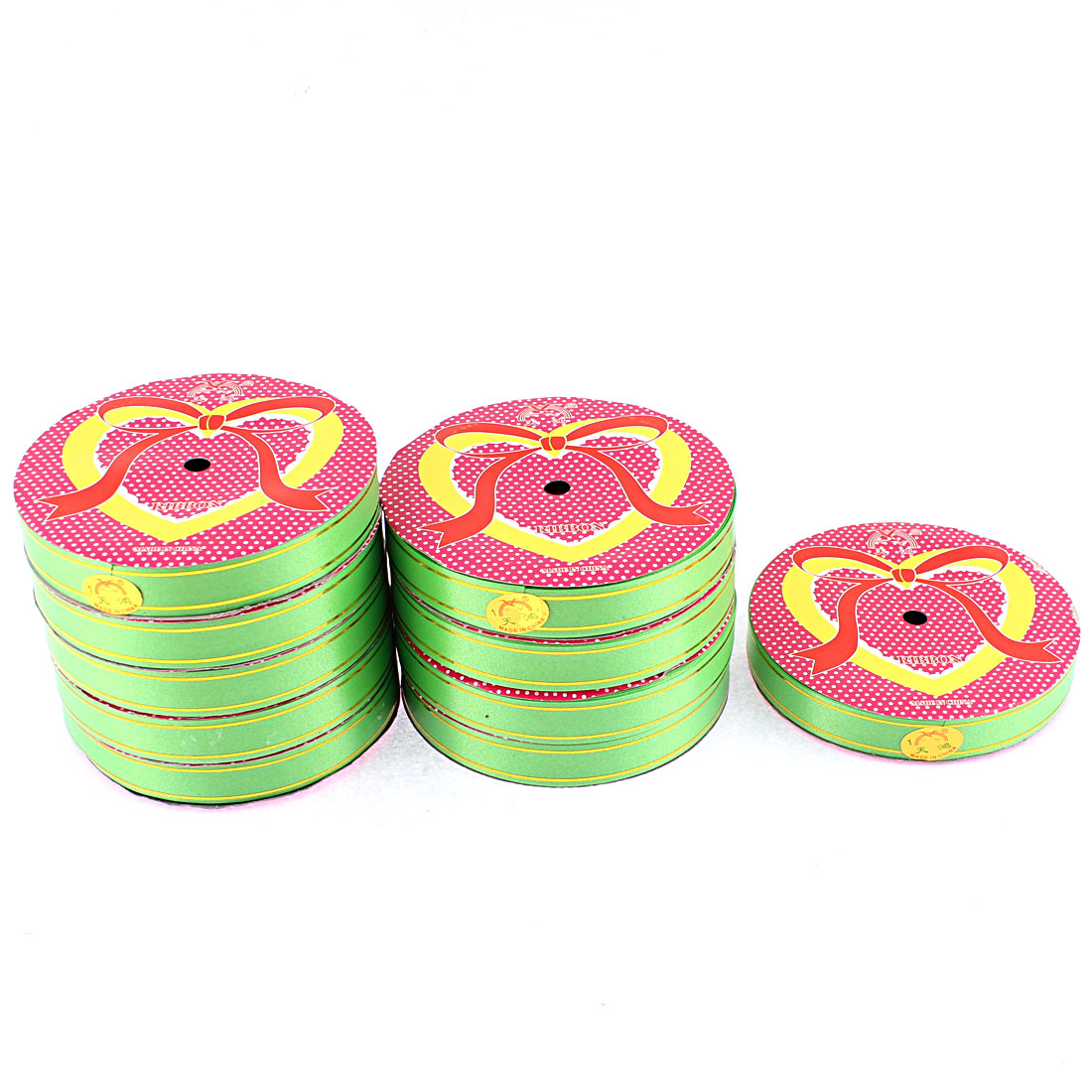 Wedding Festival Polyester Satin Ribbon Roll Tape Green 20m 22 Yards 10pcs
