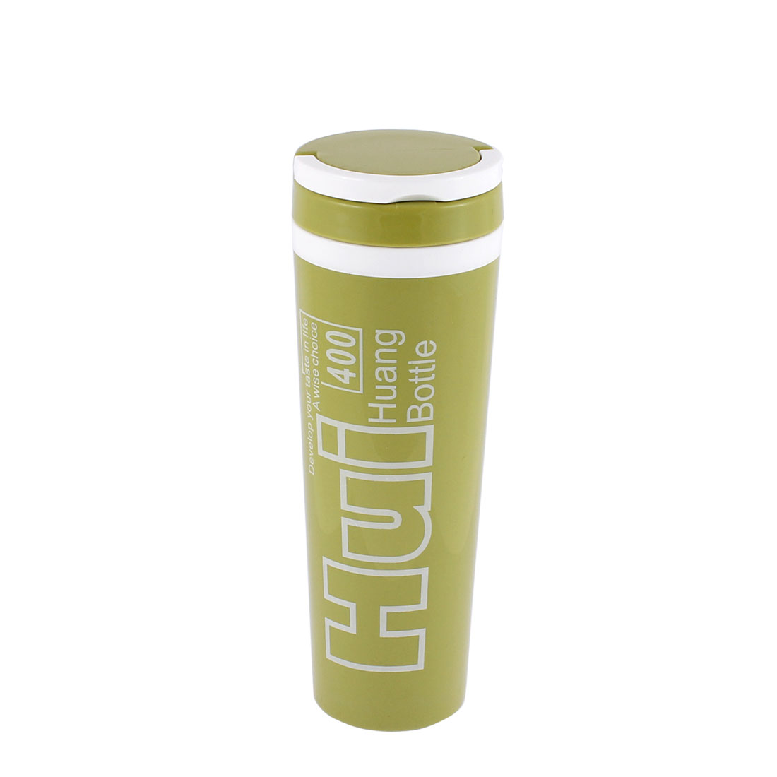 Handheld Insulated Vacuum Heat Retaining Bottle Flask Travel Mug Olive Green 400ml
