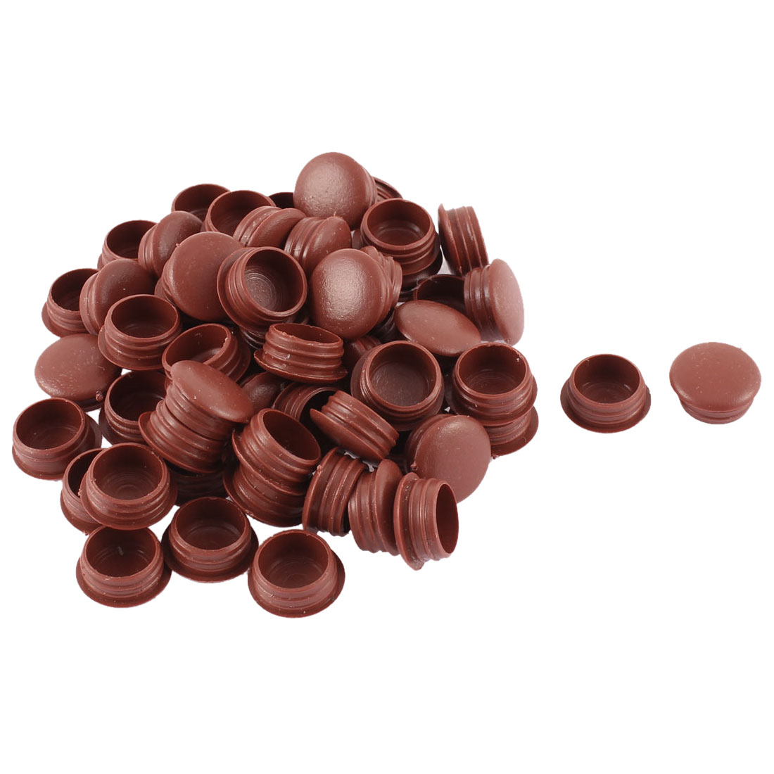Home Plastic Furniture Chair Legs Decor Hole Covers Tube Insert Burgundy 60pcs