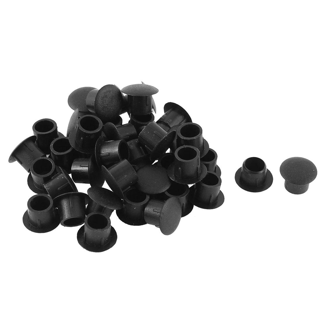 Home Kitchen Plastic Drawer Cabinet Decor CoverTube Insert Black 8mm Dia 40pcs