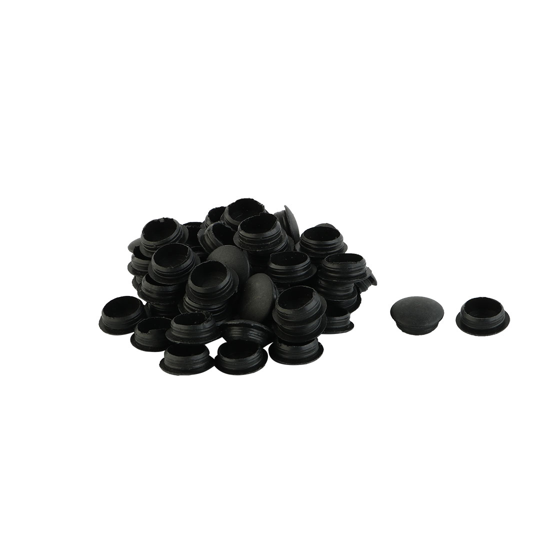 Plastic Flush Type Locking Hole Cap Covers Bung Tube Insert Black 12mm Dia 50pcs