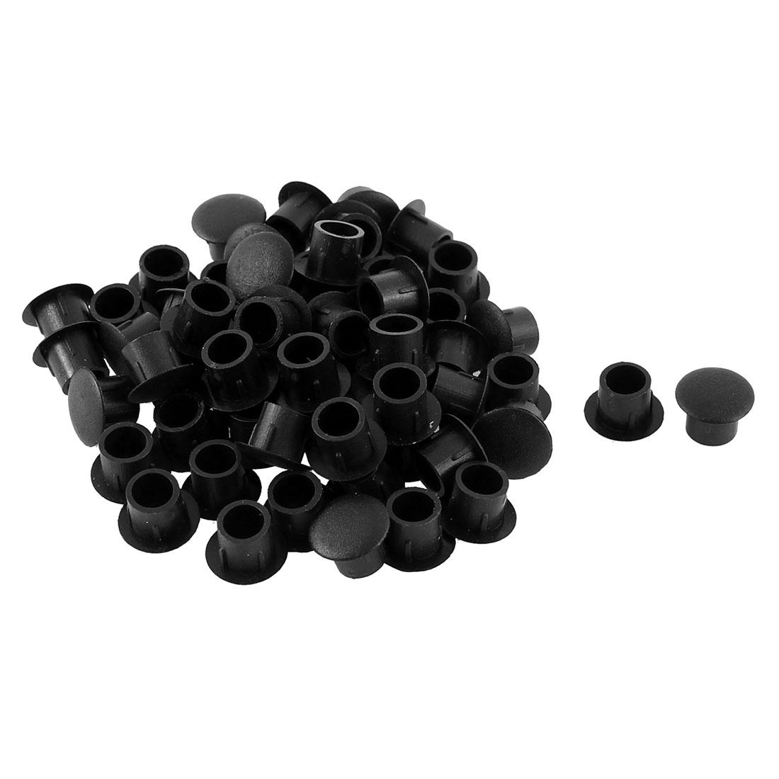 Kitchen Wardrobe Decor Locking Hole Cover Tube Insert Black 8mm Dia 60pcs