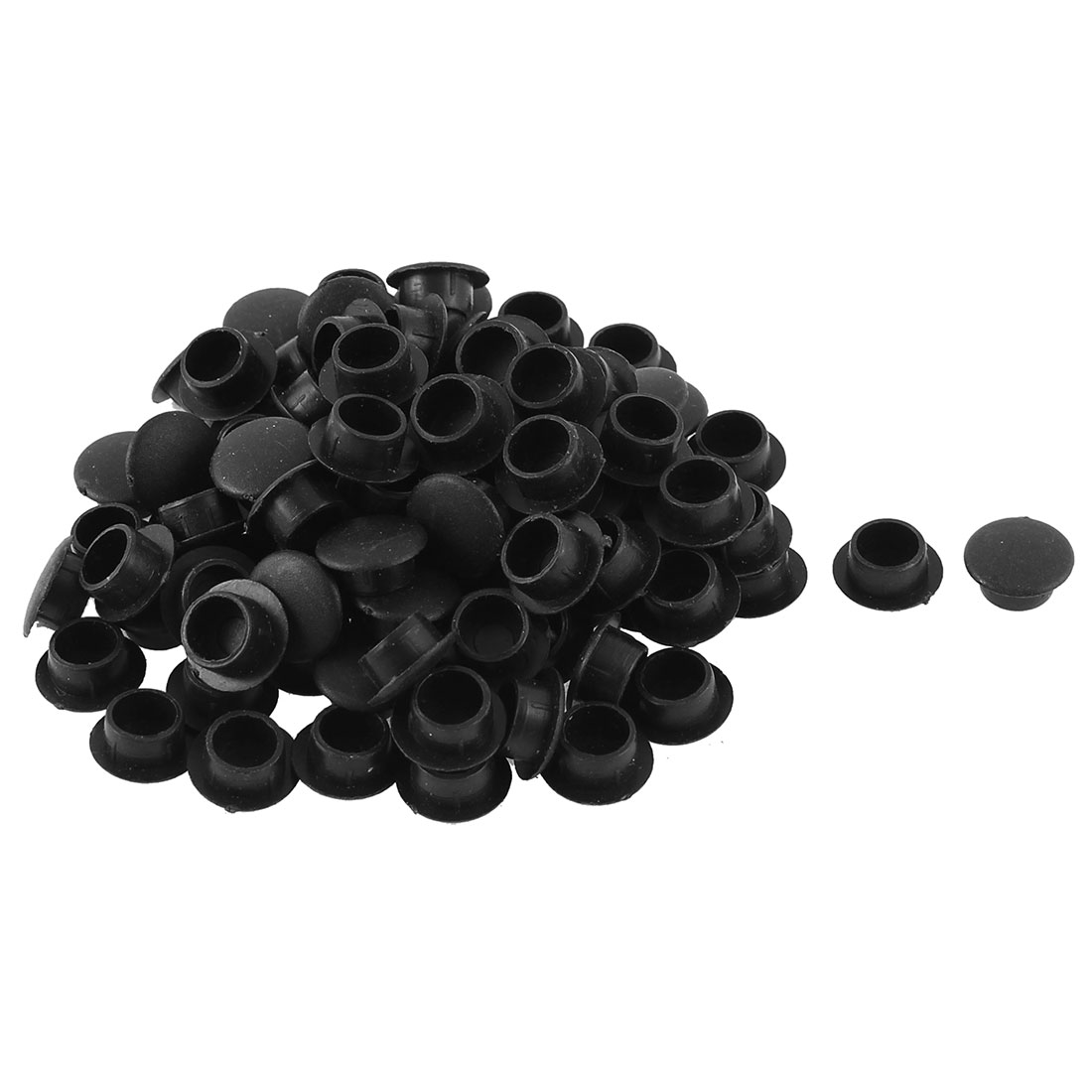Plastic Furniture Cabinet Wardrobe Legs Hole Cover Tube Insert Black 100pcs