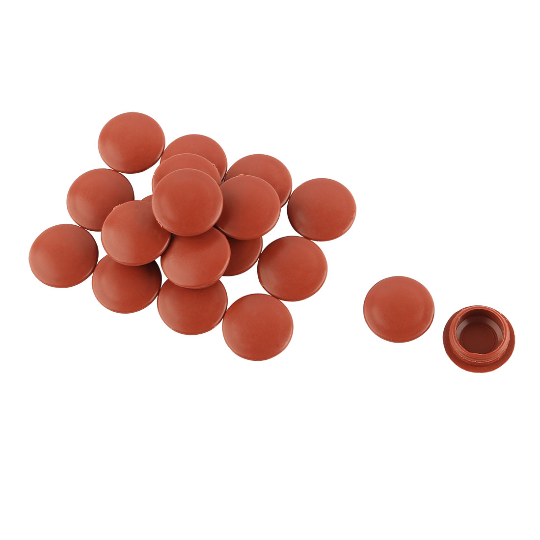 Plastic Round Furniture Legs Hole End Cap Cover Pipe Tube Inserts 16mm Dia 20pcs