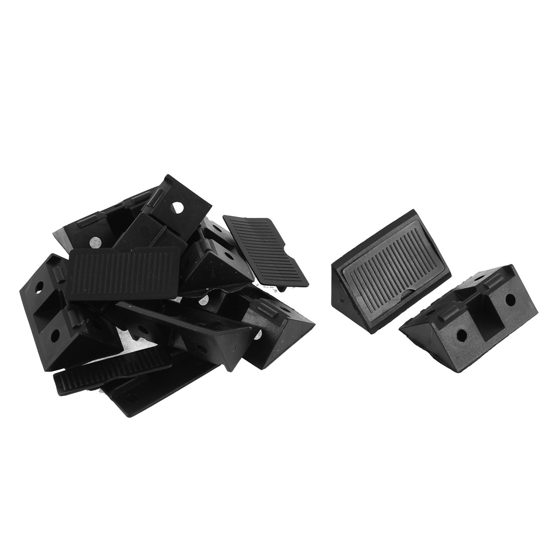 Furniture Shelf Cabinet Plastic 90 Degree Corner Braces Angle Brackets 8pcs