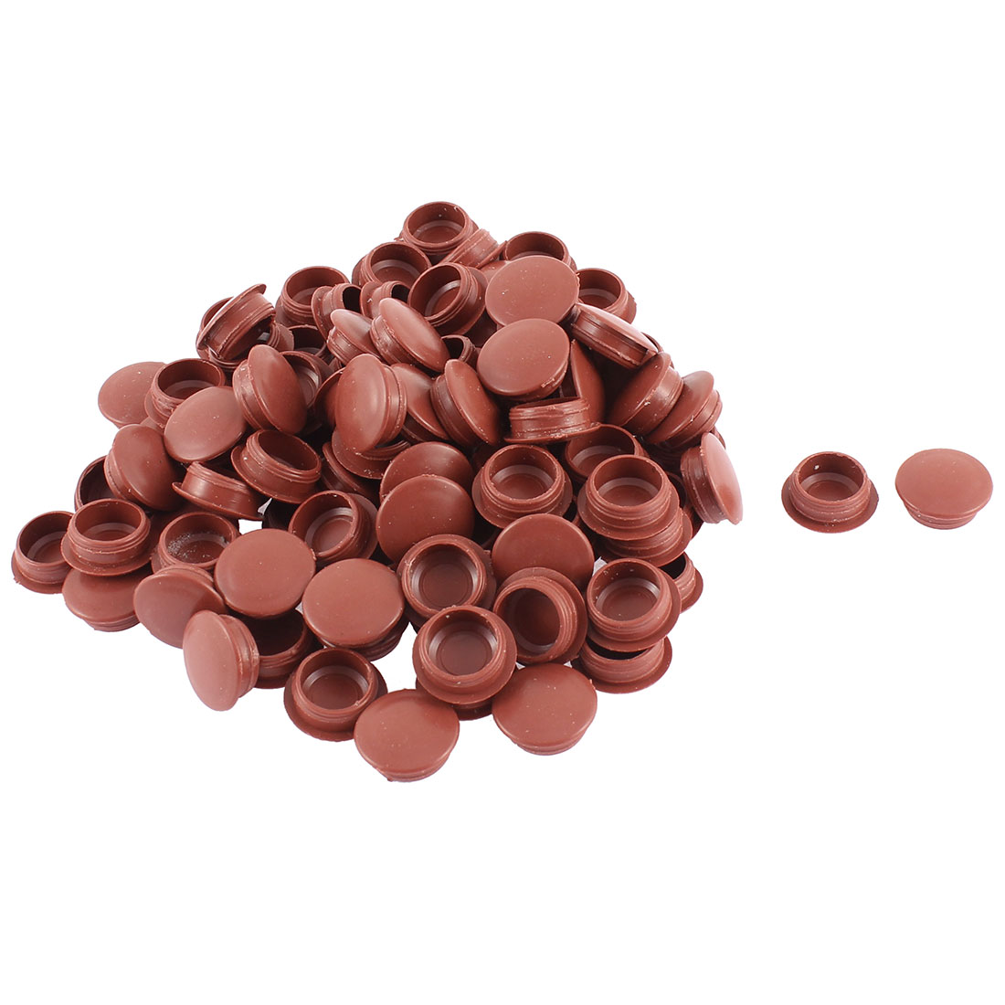 Home Plastic Furniture Chair Legs Hole Covers Tube Insert Burgundy 100pcs
