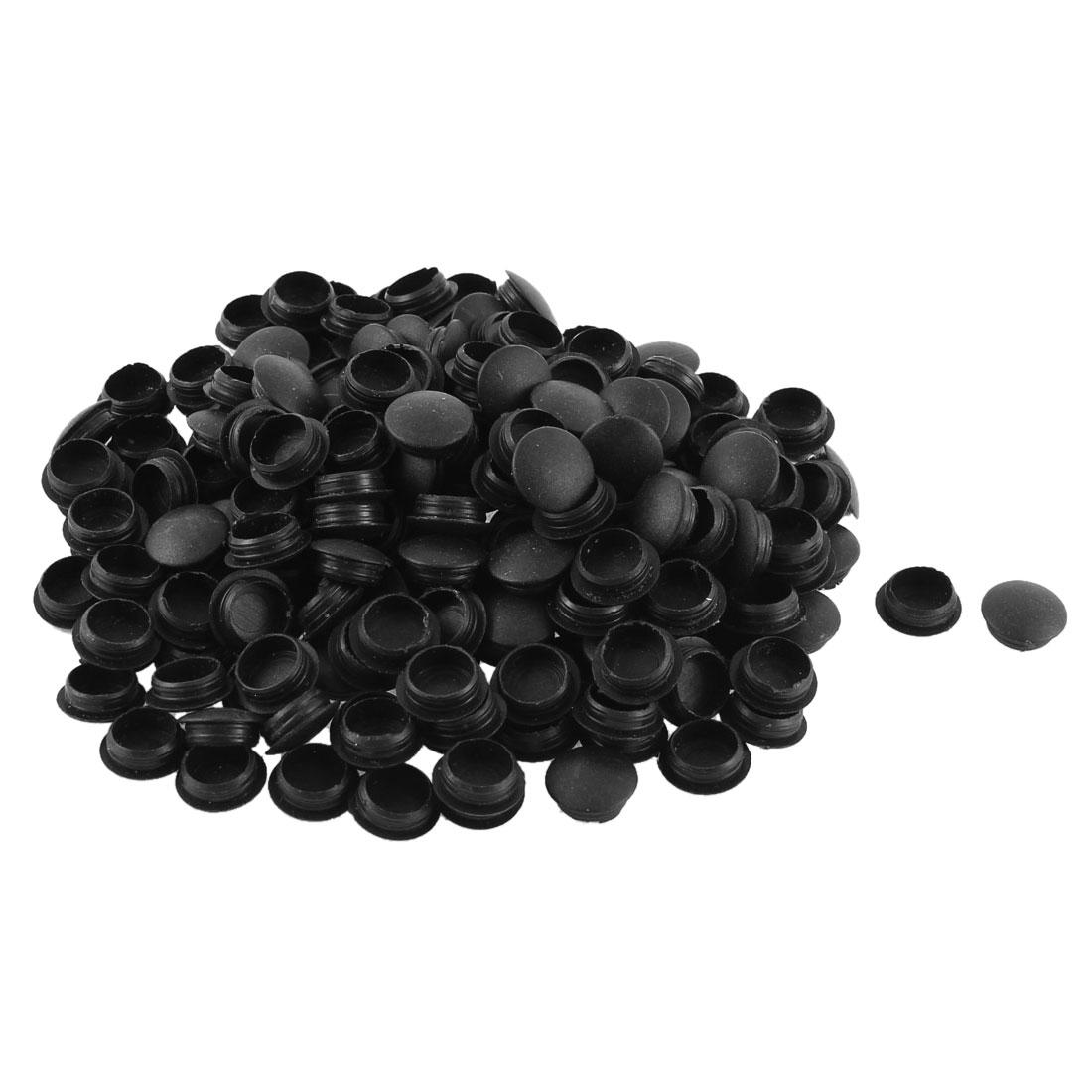 Wardrobe Table Desk Decor Locking Hole Caps Covers Tube Insert Black 200pcs