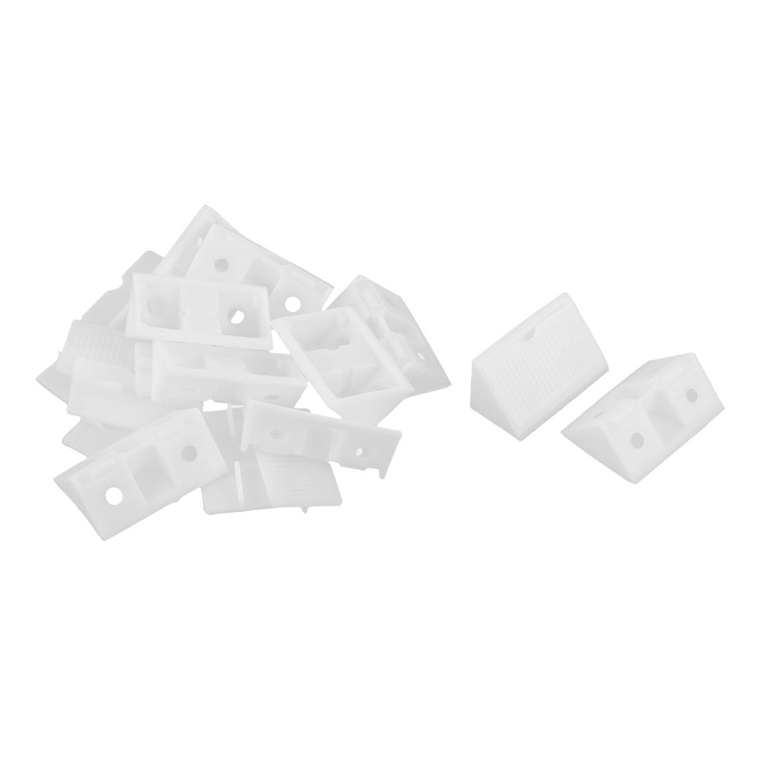 Furniture Shelf Cabinet Plastic 90 Degree Angle Brackets White 10pcs