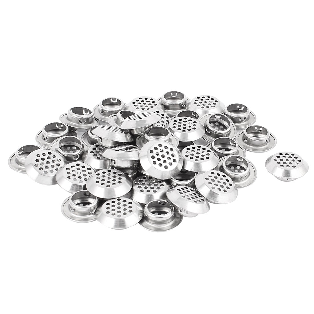 19mm Bottom Dia Round Panel Shoes Cupboard Cabinet Air Vent Louver Cover 40pcs
