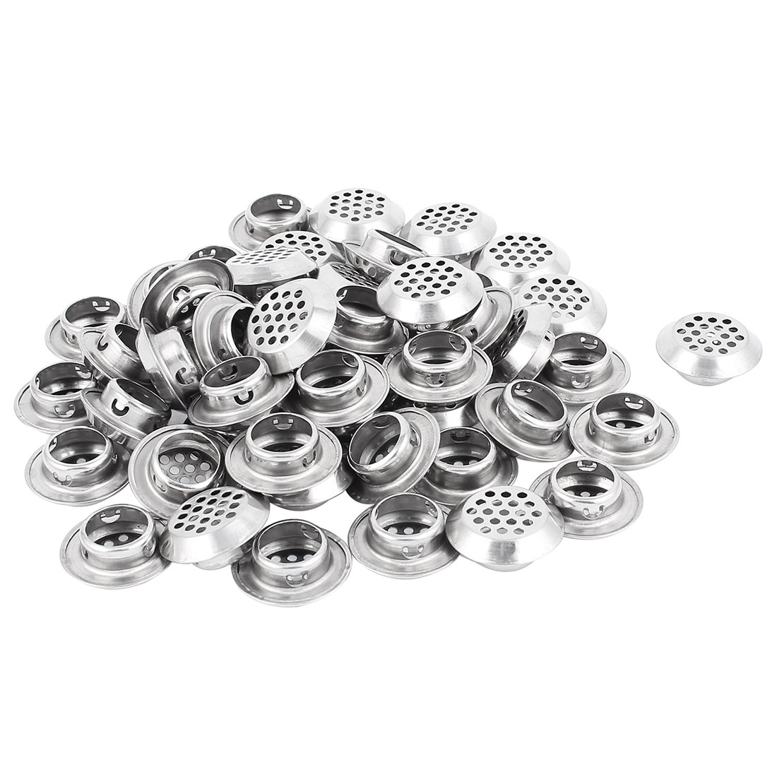 19mm Bottom Dia Round Panel Shoes Cupboard Cabinet Air Vent Louver Cover 50pcs