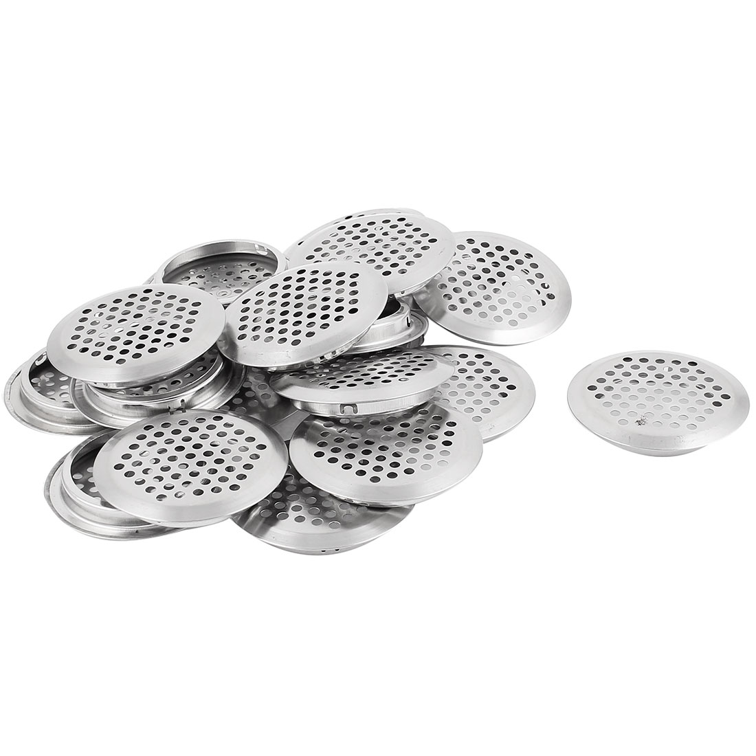 53mm Bottom Dia Round Panel Shoes Cupboard Cabinet Air Vent Louver Cover 20pcs