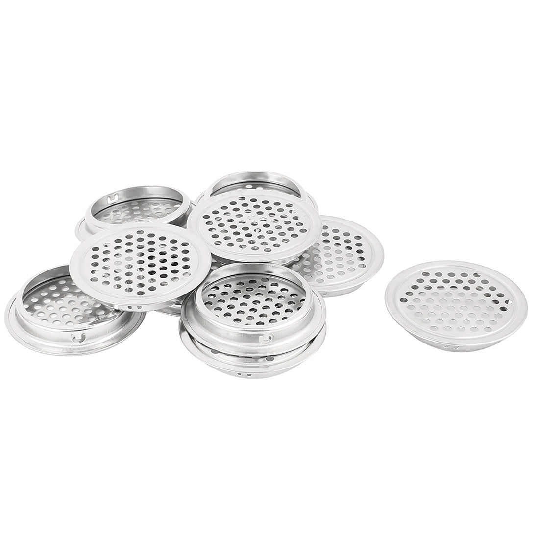 53mm Bottom Dia Mesh Panel Shoes Cupboard Cabinet Air Vent Louver Cover 10pcs