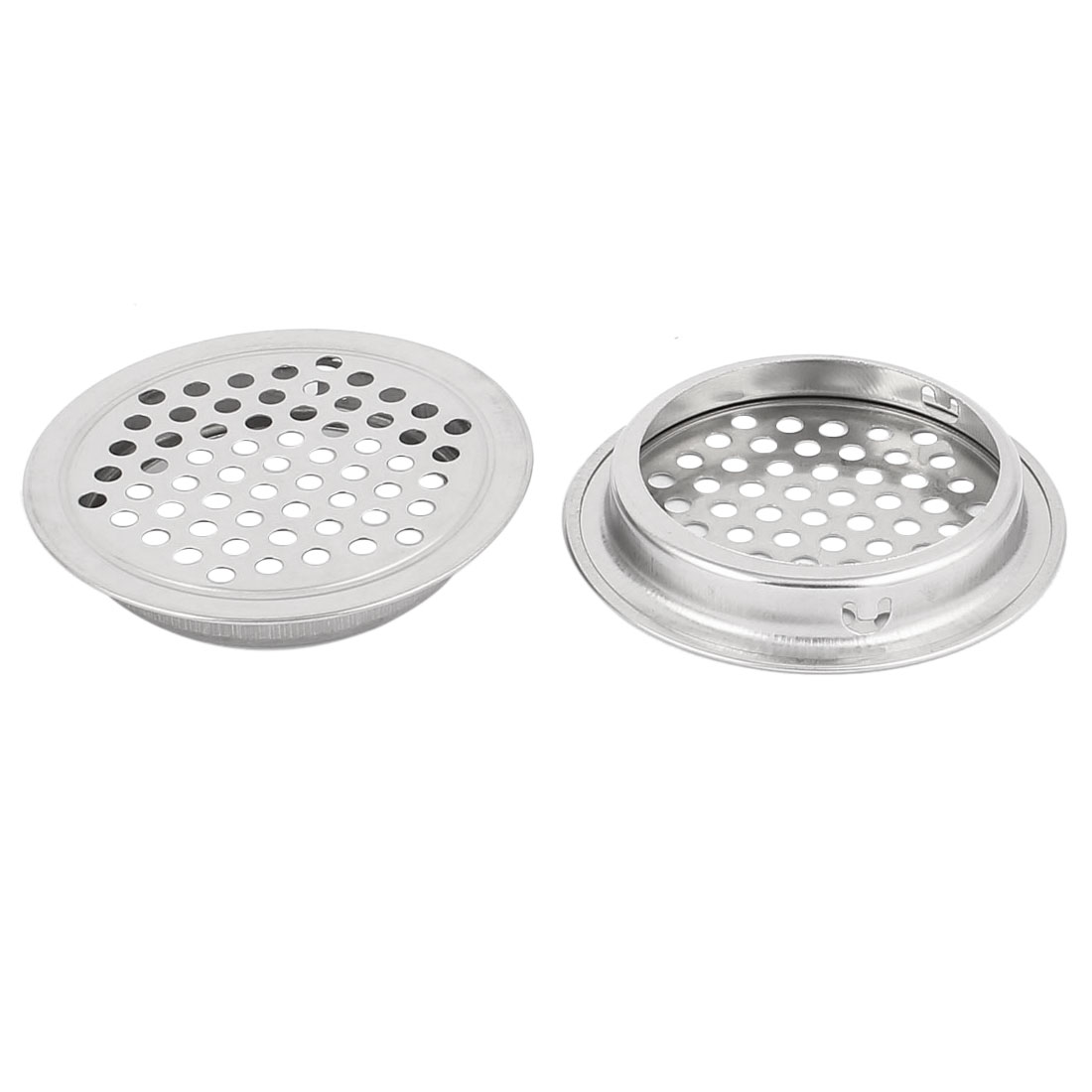 53mm Bottom Dia Mesh Panel Shoes Cupboard Cabinet Air Vent Louver Cover 2pcs