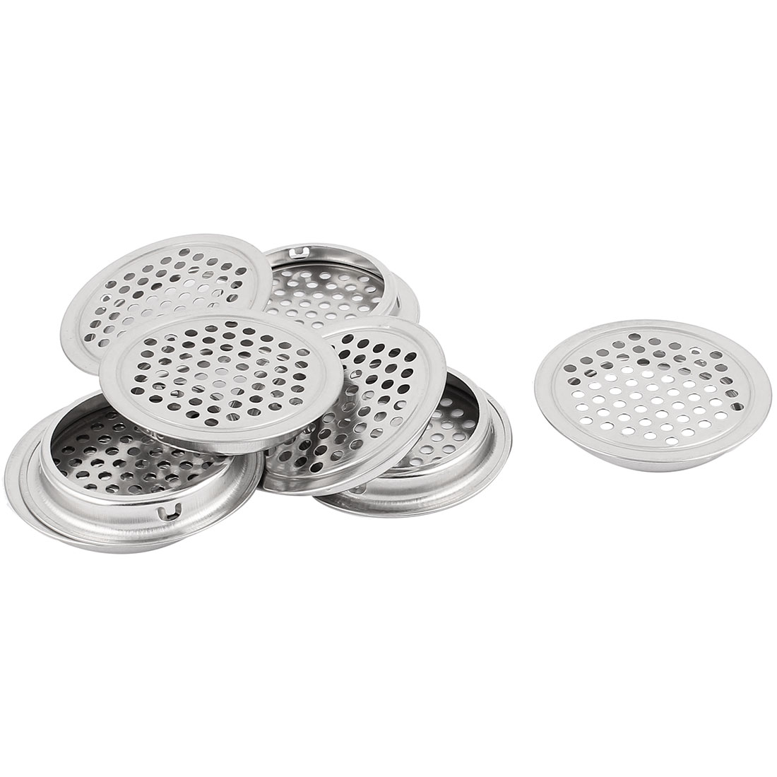 53mm Bottom Dia Mesh Panel Shoes Cupboard Cabinet Air Vent Louver Cover 8pcs