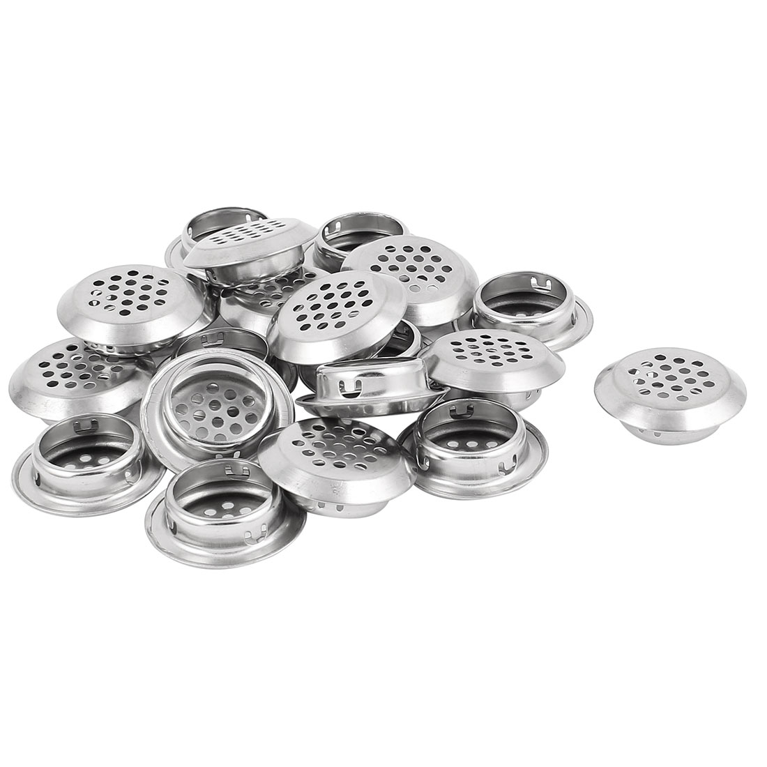 29mm Bottom Dia Round Panel Shoes Cupboard Cabinet Air Vent Louver Cover 20pcs