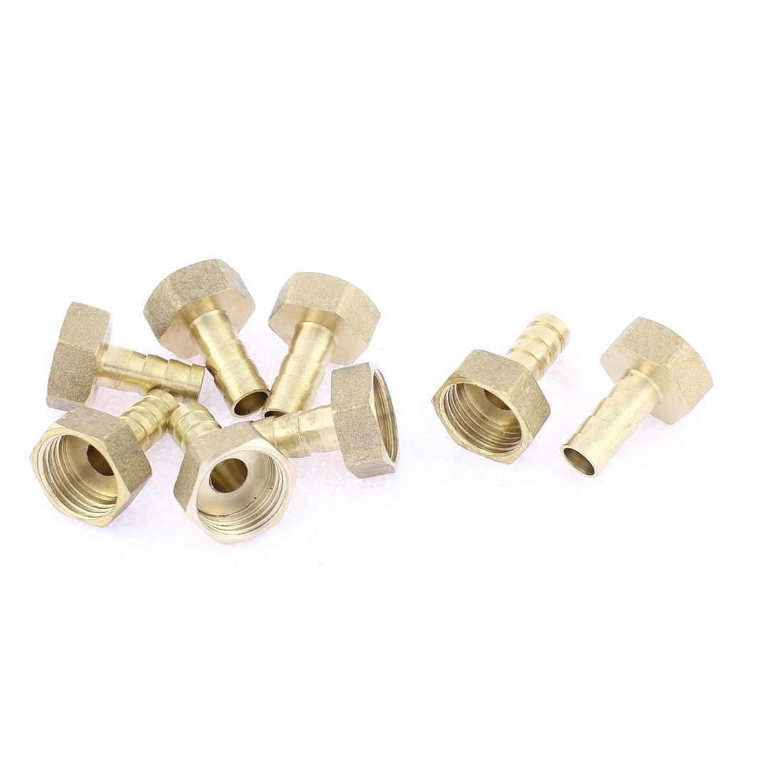 Brass 10mm Hose Barb 1/2BSP Female Thread Quick Joint Connector Adapter 8pcs