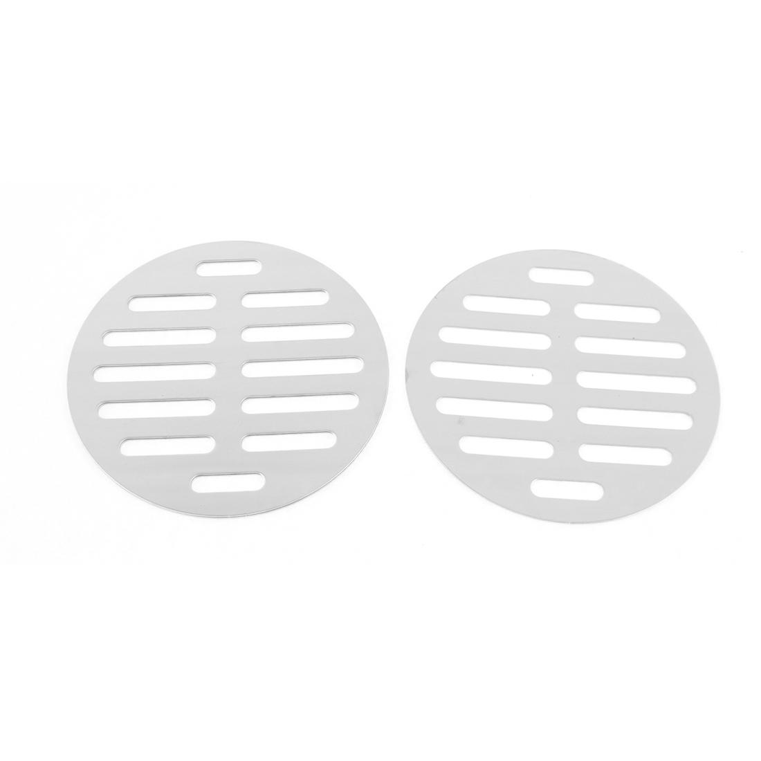 "Stainless Steel Kitchen Bathroom Round Floor Drain Cover 4"" 10cm 3pcs"