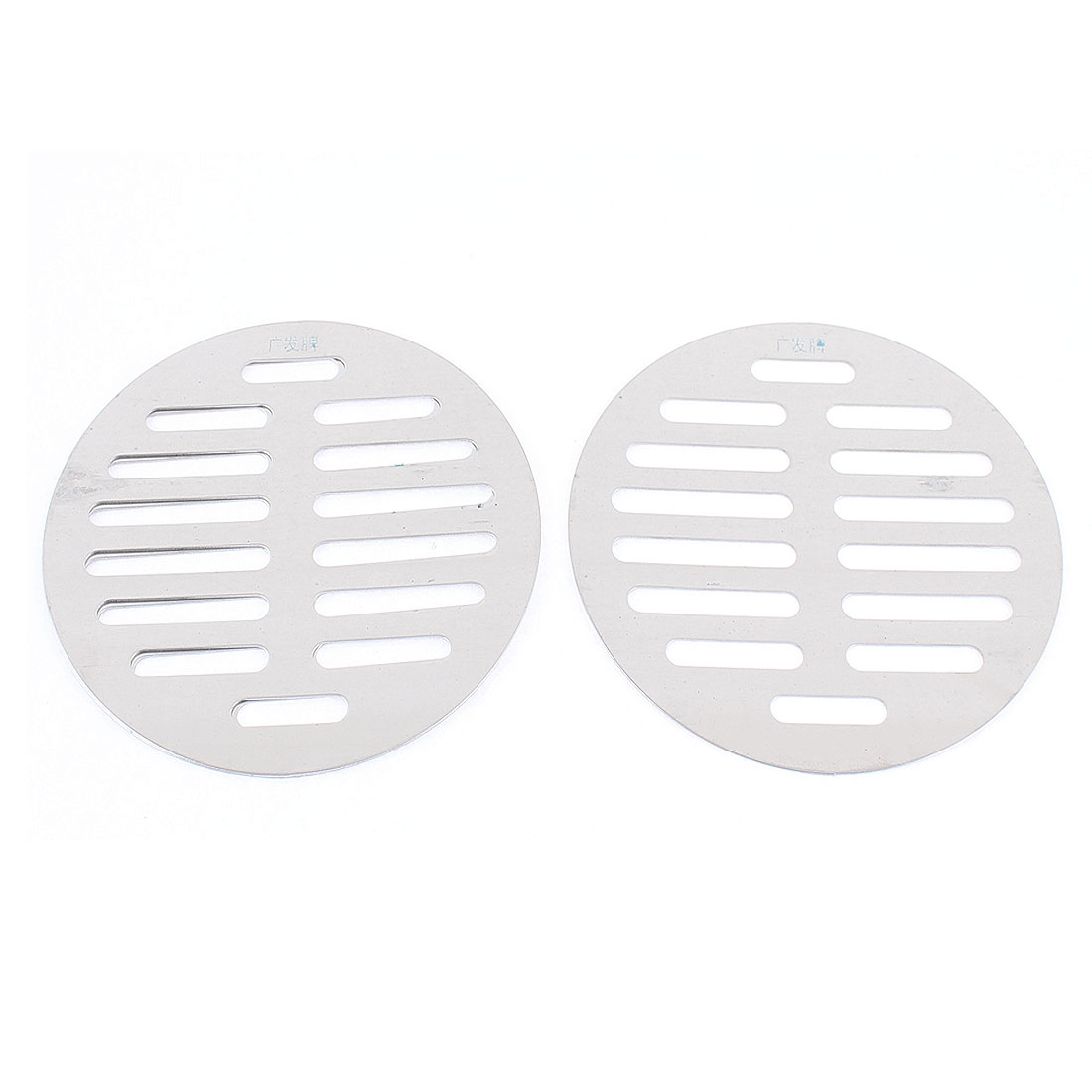 "Stainless Steel Kitchen Bathroom Round Floor Drain Cover 4.4"" 11.3cm 3pcs"