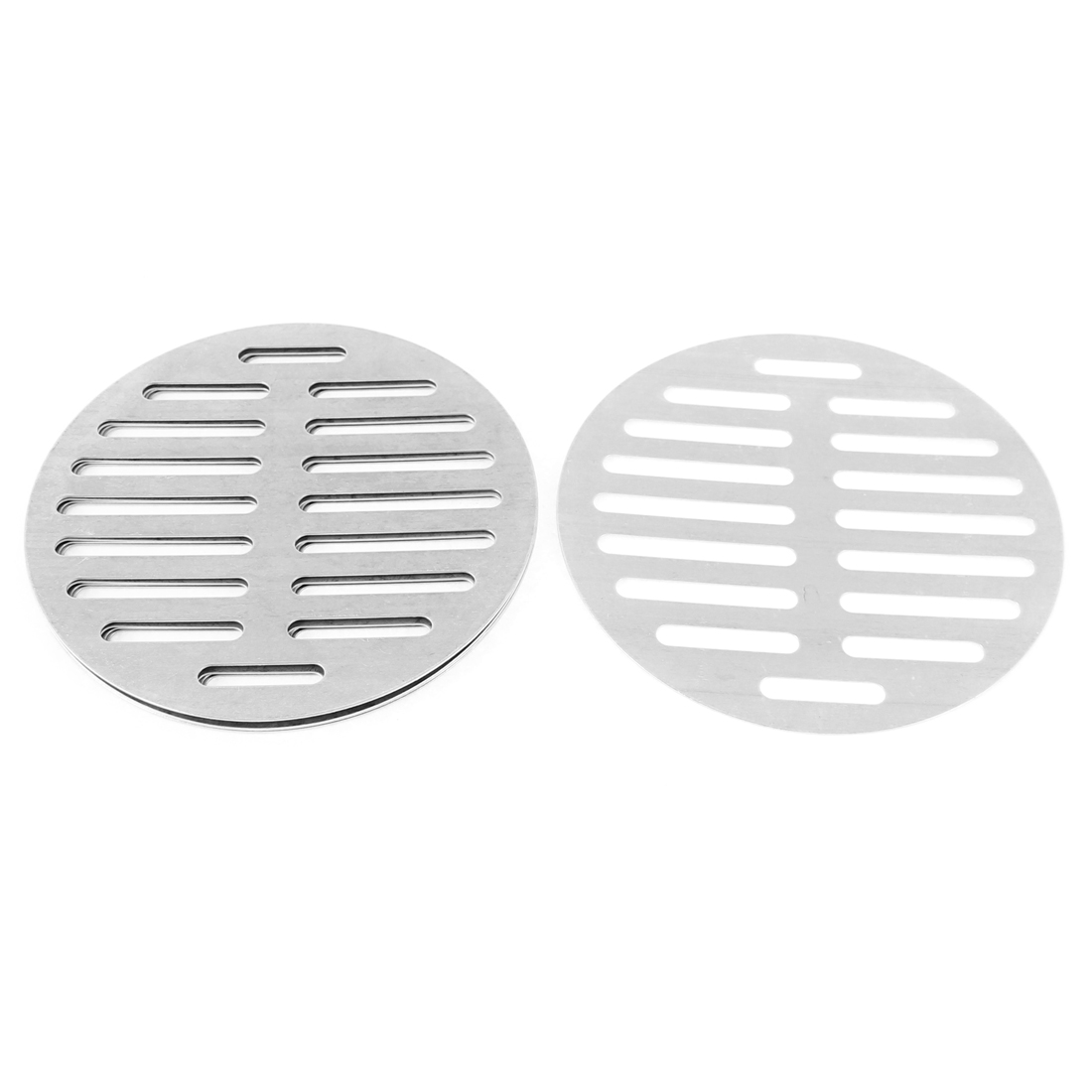 "Stainless Steel Kitchen Bathroom Round Floor Drain Cover 6"" 15cm 5Pcs"