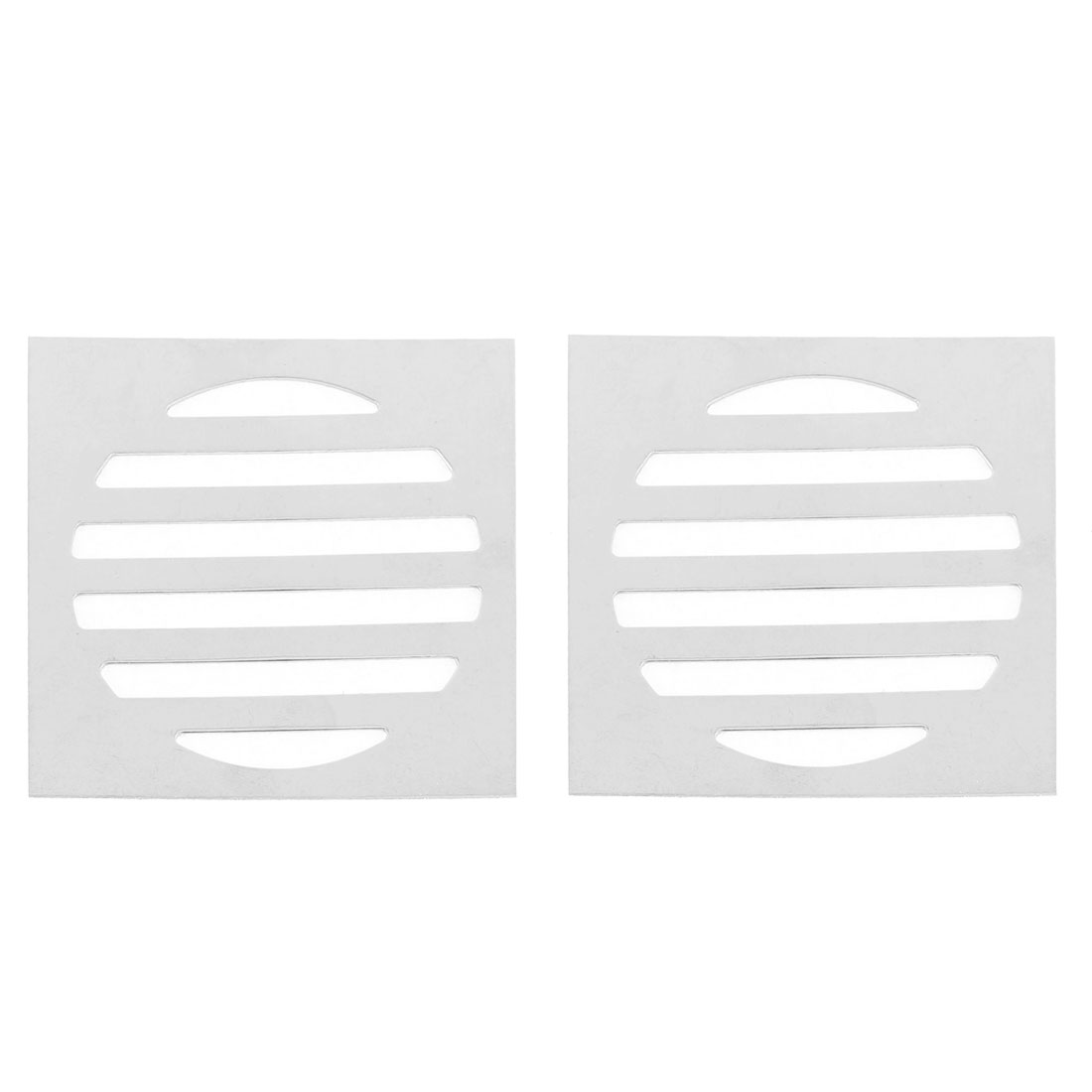 "Stainless Steel Kitchen Bathroom Square Floor Drain Cover 3"" 7.5cm 2pcs"