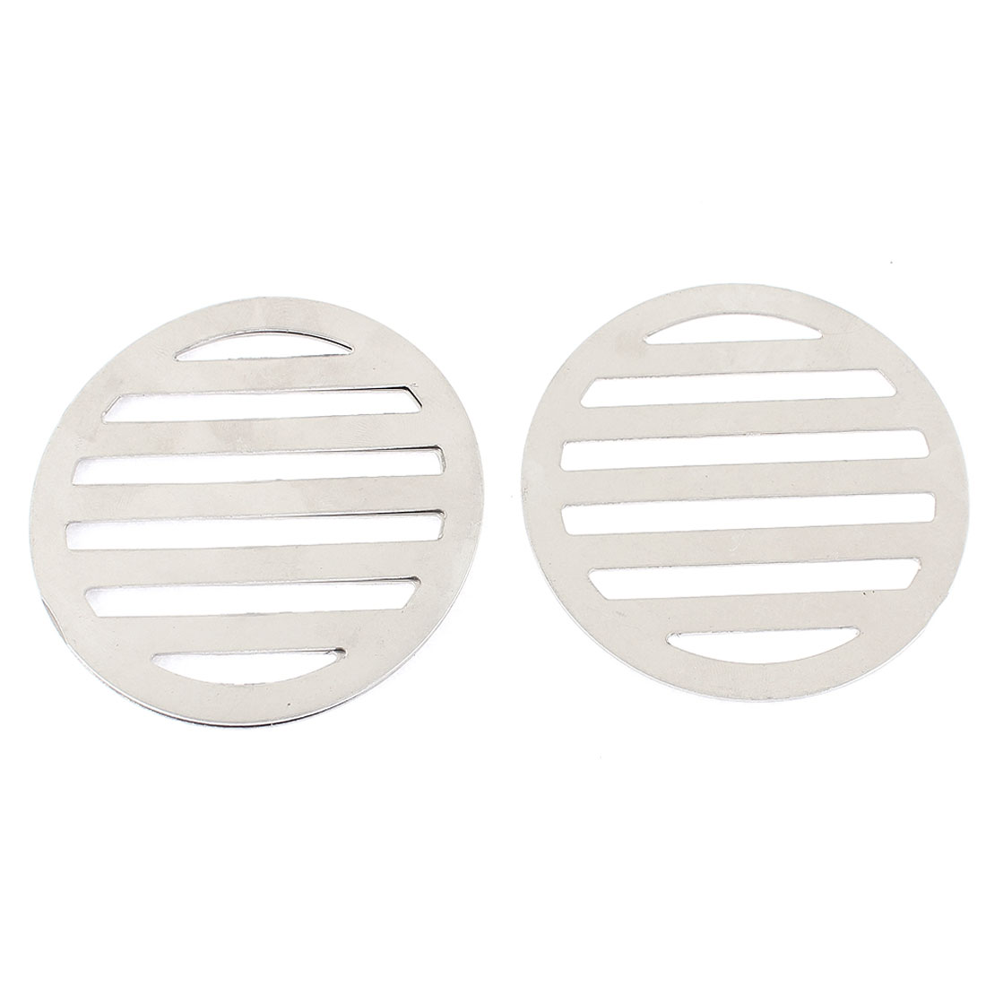 "Stainless Steel Kitchen Bathroom Round Floor Drain Cover 3.4"" 8.6cm 3Pcs"