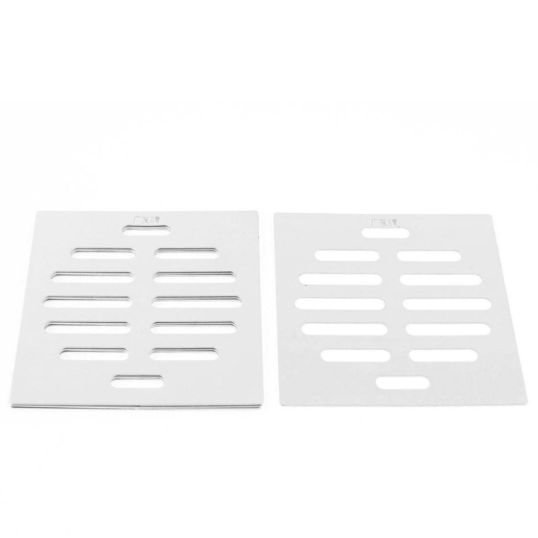 "Stainless Steel Kitchen Bathroom Square Floor Drain Cover 4"" 10cm 5pcs"
