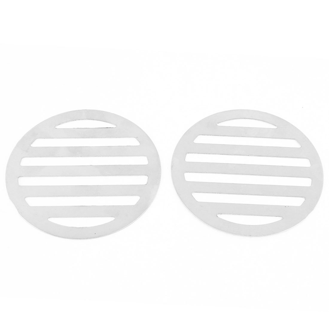 "Stainless Steel Kitchen Bathroom Round Floor Drain Cover 3.4"" 8.6cm 2Pcs"