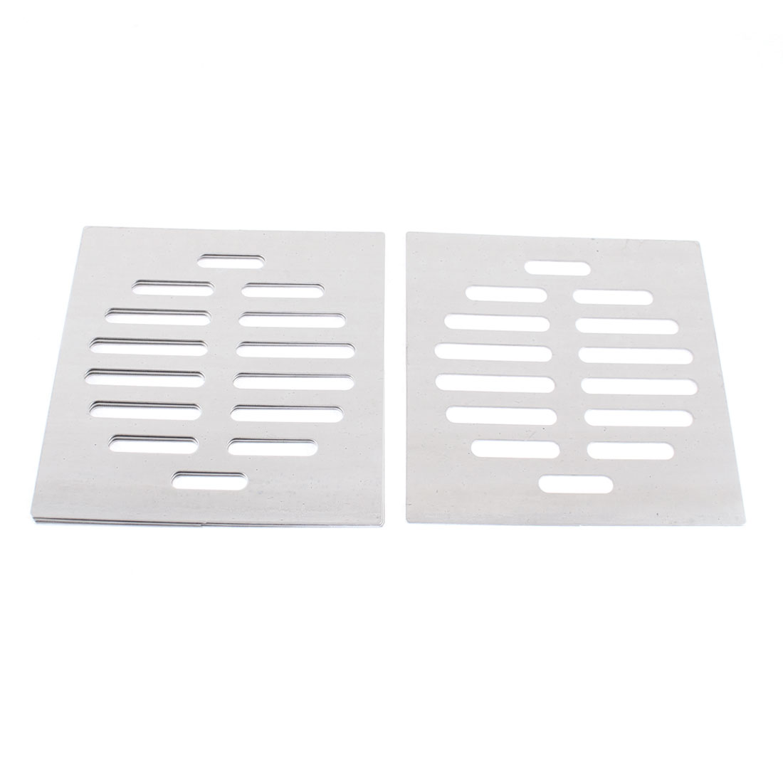"Stainless Steel Kitchen Bathroom Square Floor Drain Cover 4.4"" 11.3cm 4pcs"