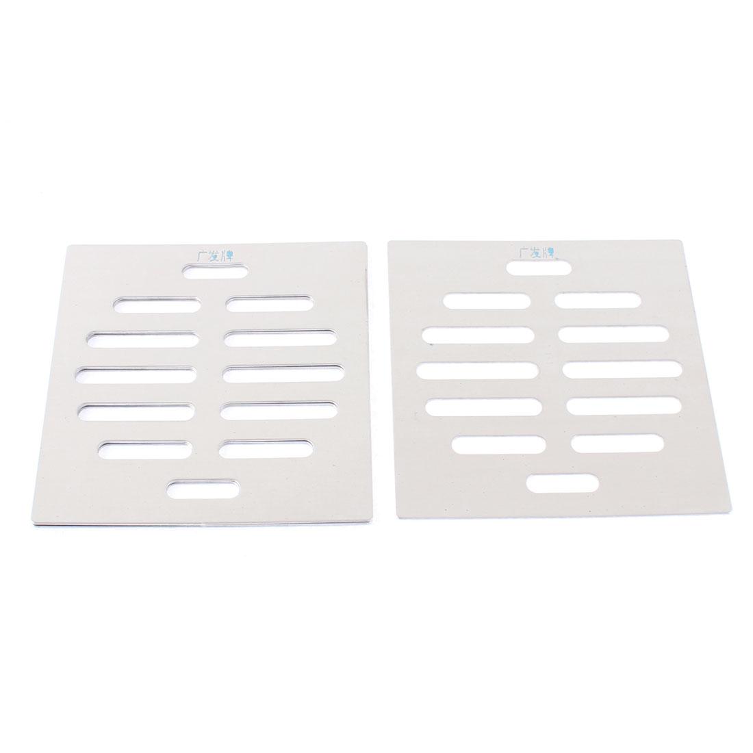 "Stainless Steel Kitchen Bathroom Square Floor Drain Cover 4"" 10cm 4pcs"