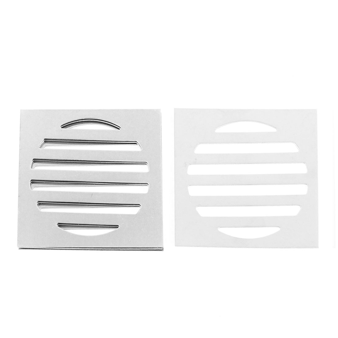 "Stainless Steel Kitchen Bathroom Square Floor Drain Cover 4.4"" 11.3cm 5pcs"