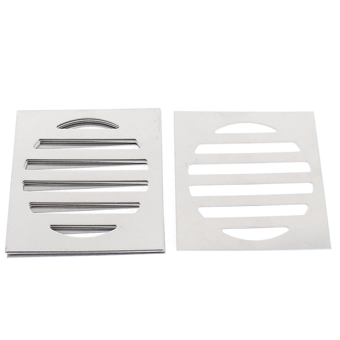 "Stainless Steel Kitchen Bathroom Square Floor Drain Cover 3"" 7.5cm 5pcs"