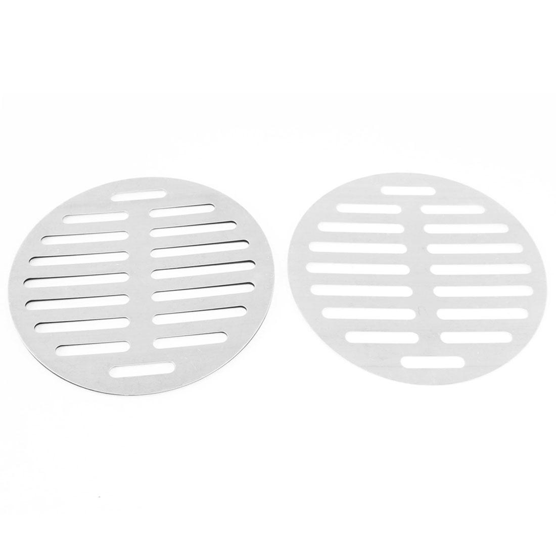 "Stainless Steel Kitchen Bathroom Round Floor Drain Cover 6"" 15cm 3Pcs"