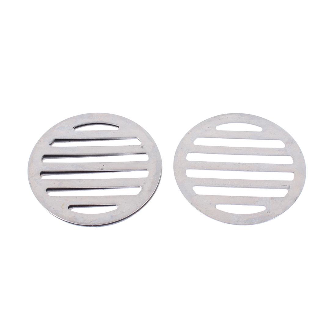 "Stainless Steel Kitchen Bathroom Round Floor Drain Cover 3"" 7.5cm 4Pcs"